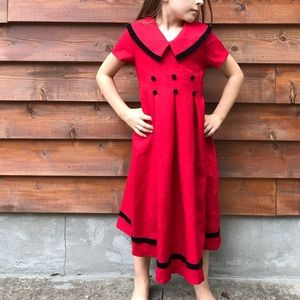Bonnie Jean Red Holiday Christmas Sailor Dress